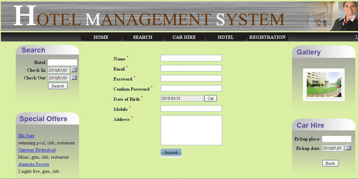 Hotel management system for Design hotel booking system